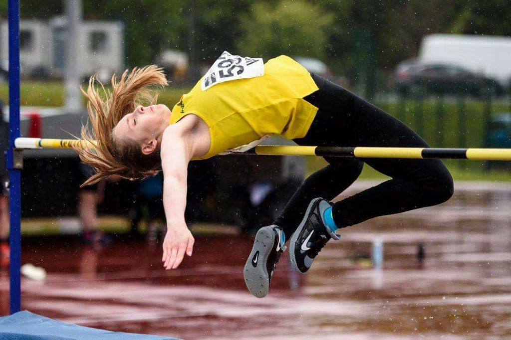 Young Argyll athletes on their marks
