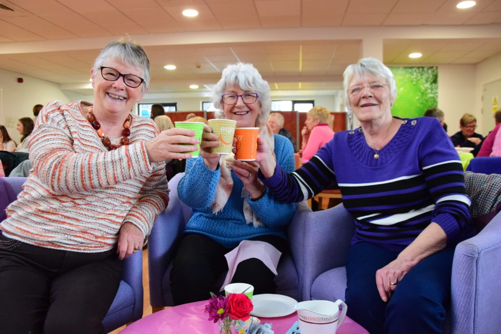 Plenty of pink with tea and cakes at Mid Argyll Hospital