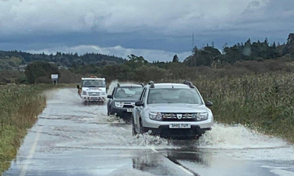 Flash flooding across Argyll
