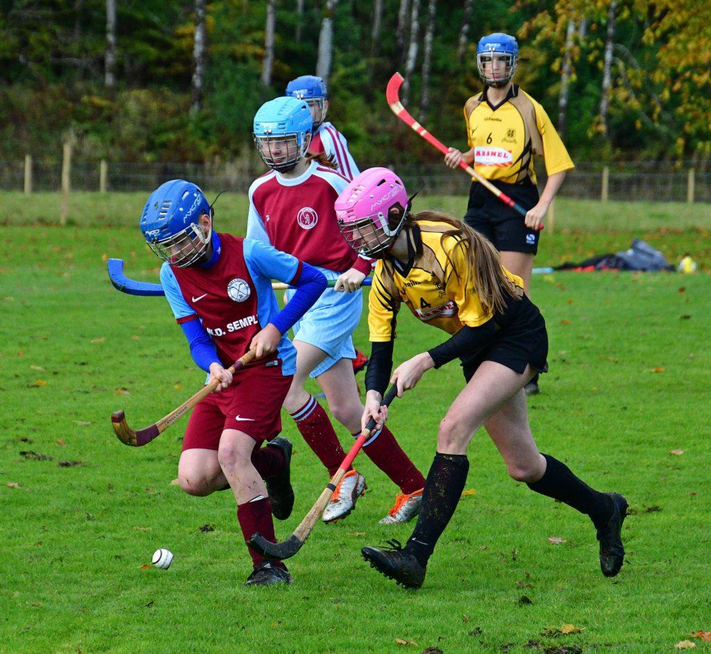 Semi-final success for Argyll U14 shinty teams