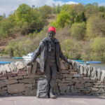 The statue of the famous Tom Weir at Balmaha. Photo: Paul Saunders Photography